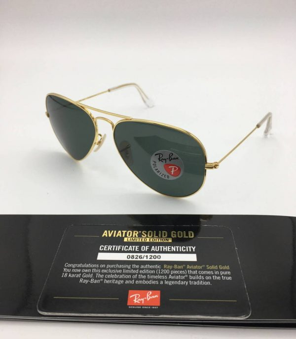 Ray-Ban-3025K-aviator solid gold-limited edition-160